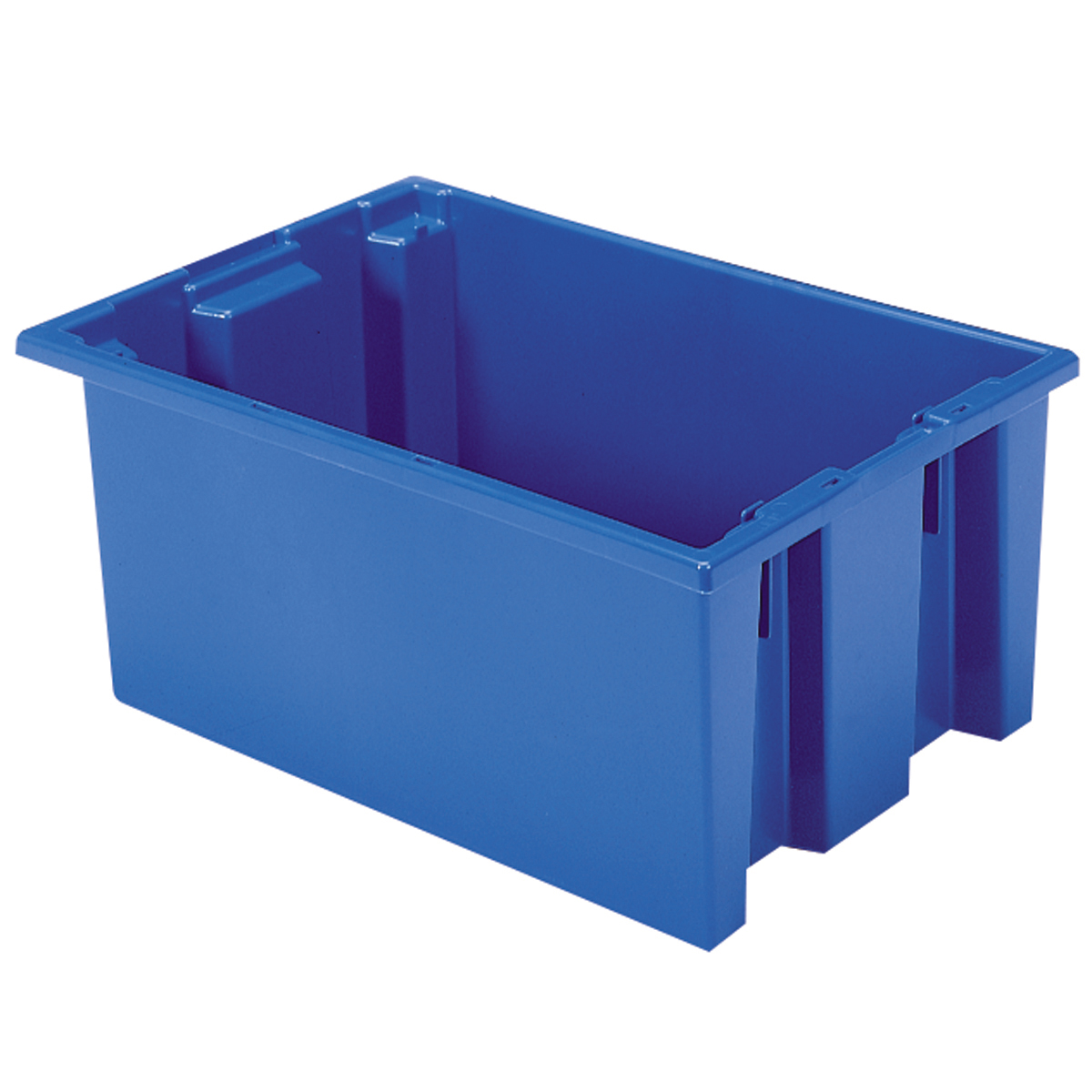 Nest & Stack Tote 19-1/2 x 13-1/2 x 8, Blue (35200BLUE).  This item sold in carton quantities of 6.
