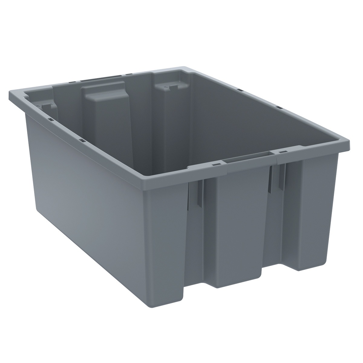 Nest & Stack Tote 19-1/2 x 13-1/2 x 8, Gray (35200GREY).  This item sold in carton quantities of 6.