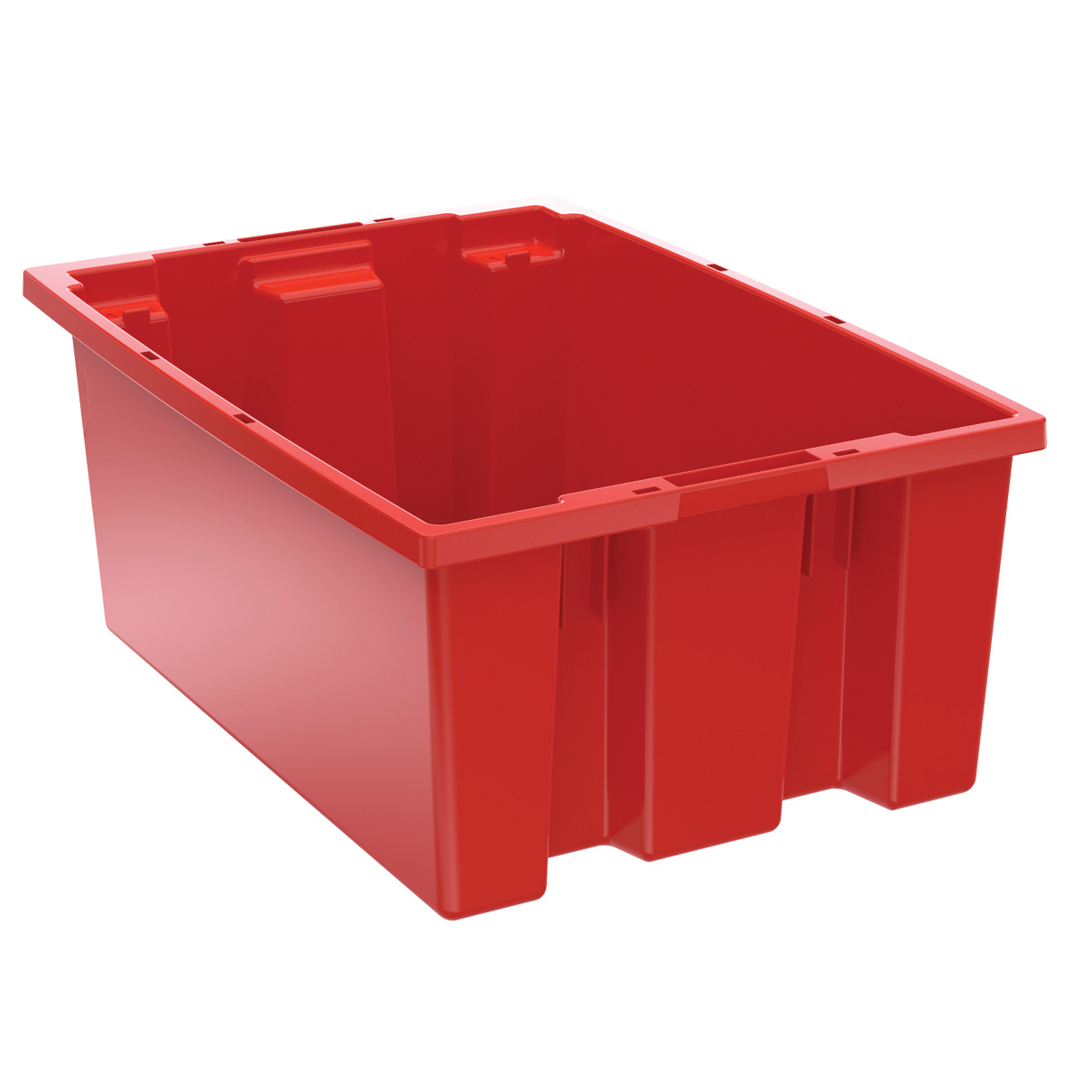 Nest & Stack Tote 19-1/2 x 13-1/2 x 8, Red (35200RED).  This item sold in carton quantities of 6.