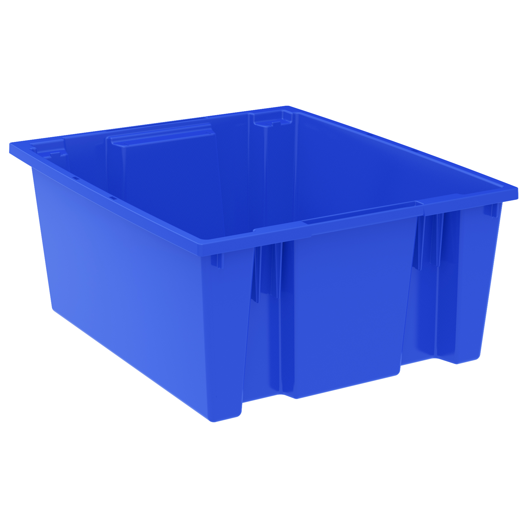 Nest & Stack Tote 23-1/2 x 19-1/2 x 10, Blue (35225BLUE).  This item sold in carton quantities of 3.