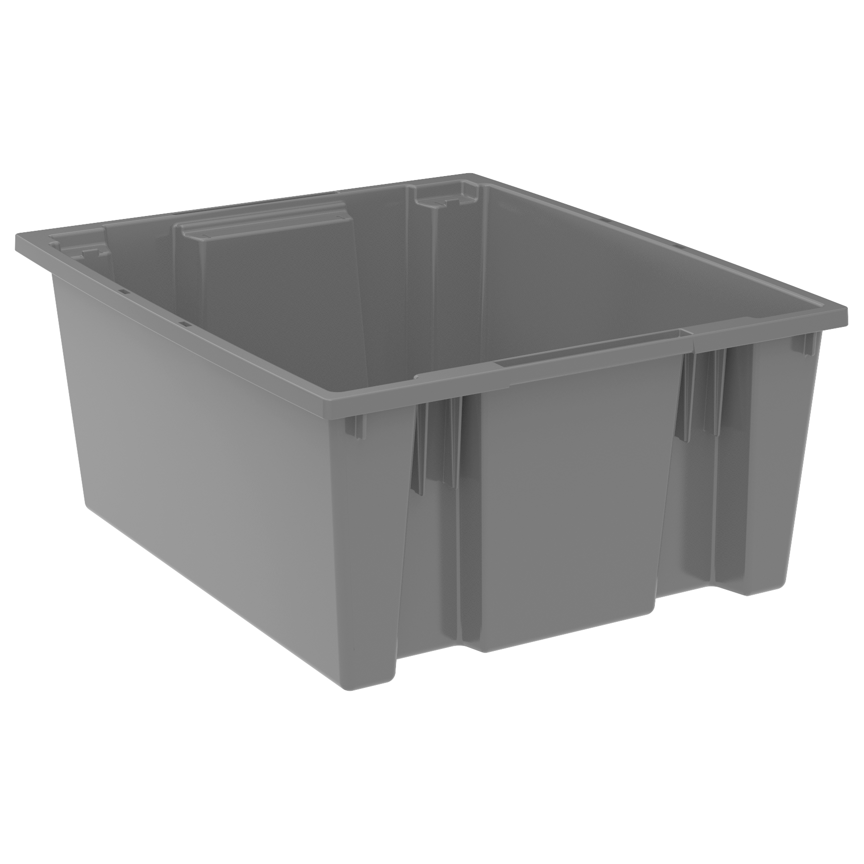 Nest & Stack Tote 23-1/2 x 19-1/2 x 10, Gray (35225GREY).  This item sold in carton quantities of 3.