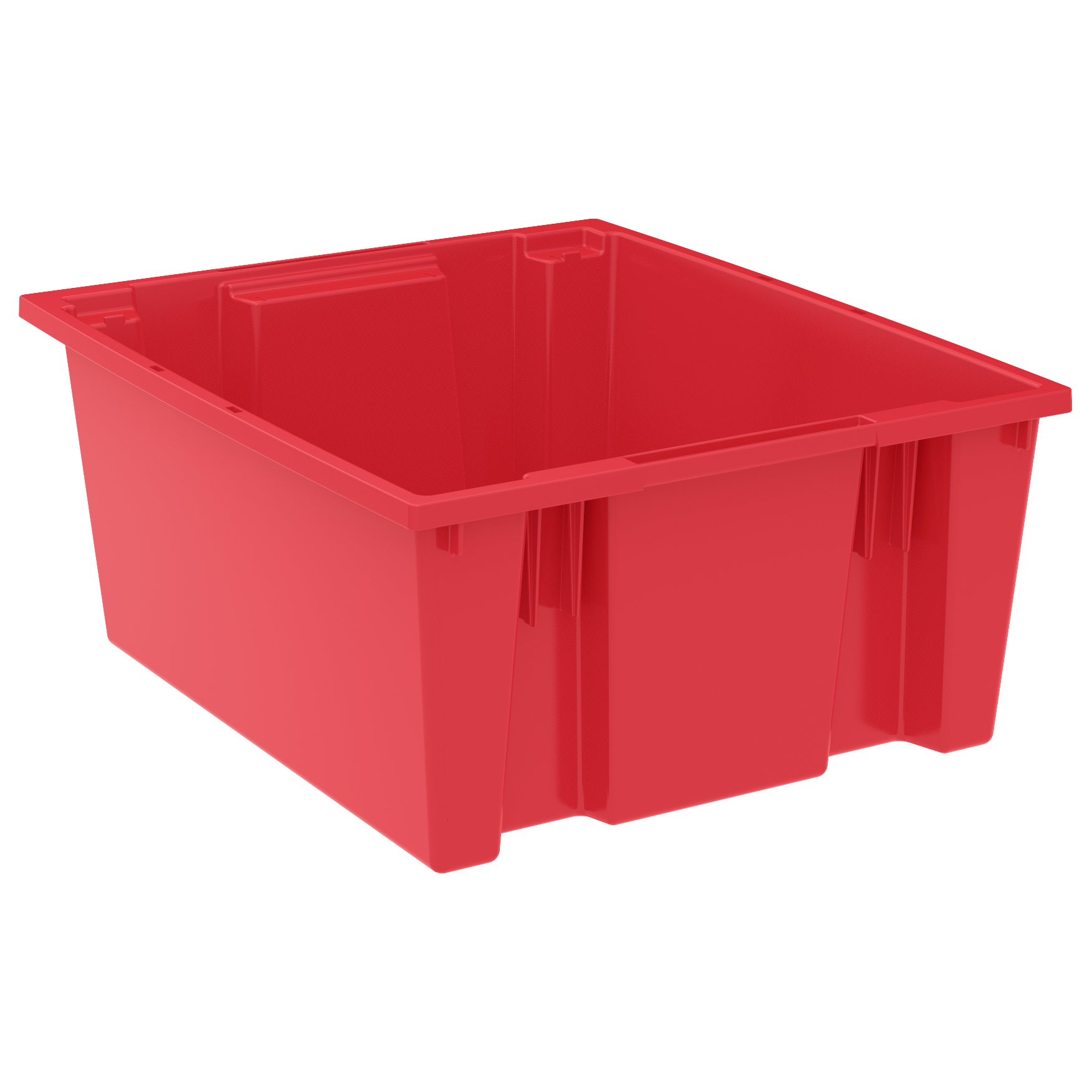 Nest & Stack Tote 23-1/2 x 19-1/2 x 10, Red (35225RED).  This item sold in carton quantities of 3.