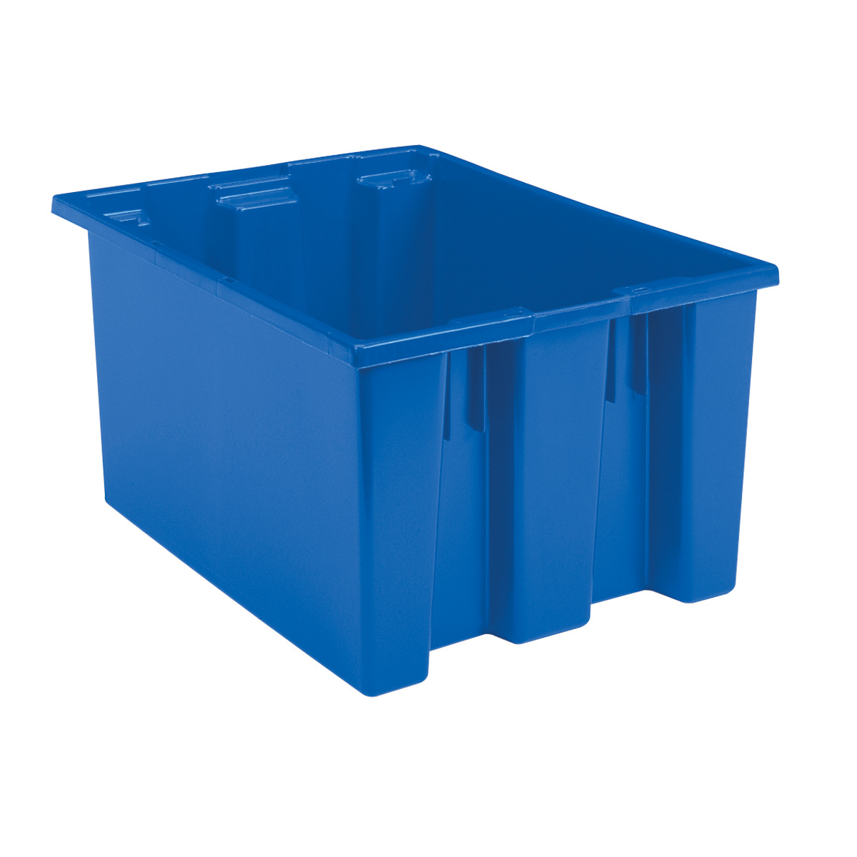 Nest & Stack Tote 23-1/2 x 19-1/2 x 13, Blue (35230BLUE).  This item sold in carton quantities of 3.