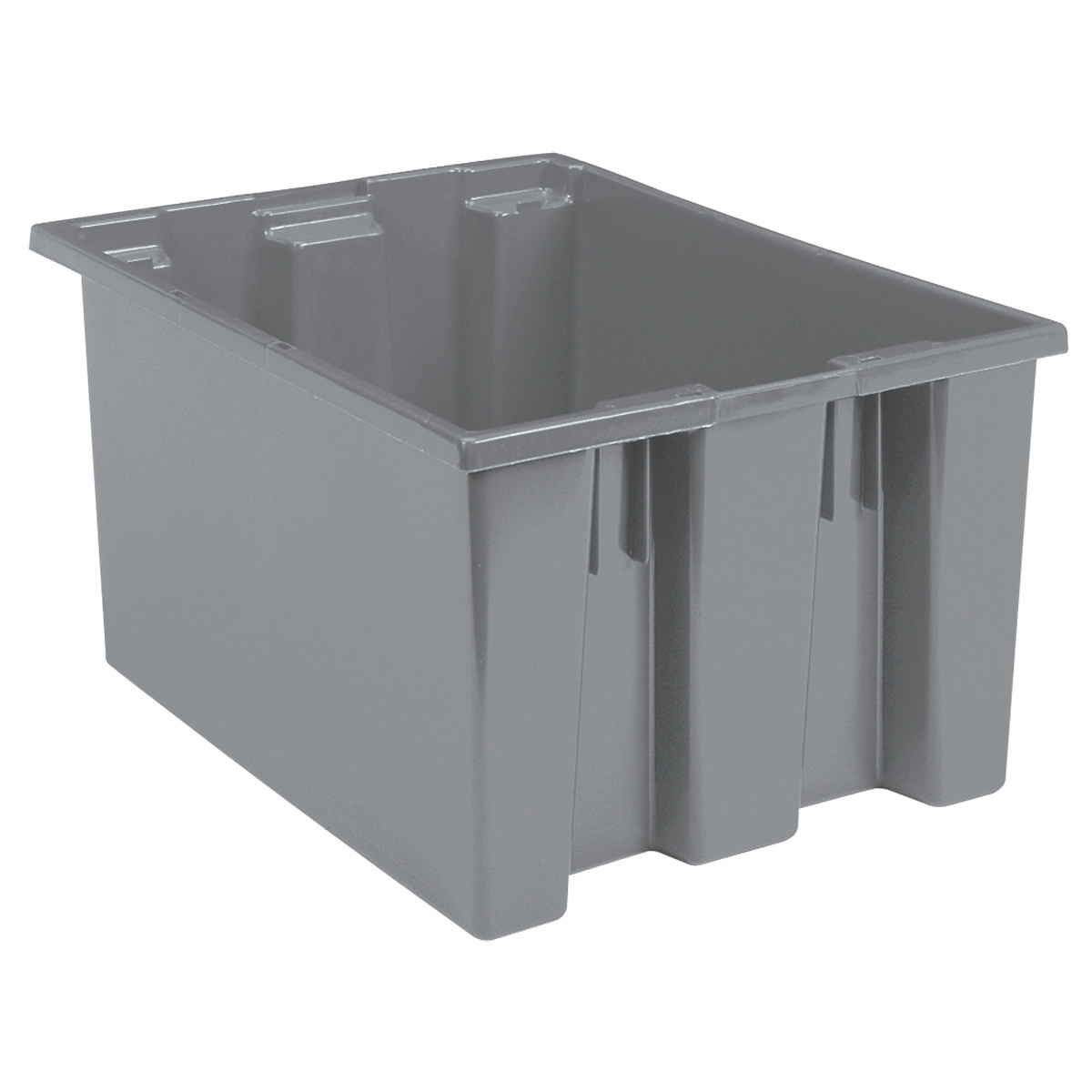 Nest & Stack Tote 23-1/2 x 19-1/2 x 13, Gray (35230GREY).  This item sold in carton quantities of 3.