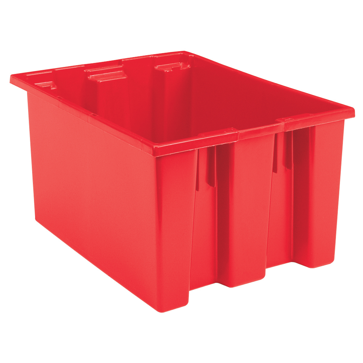 Nest & Stack Tote 23-1/2 x 19-1/2 x 13, Red (35230RED).  This item sold in carton quantities of 3.