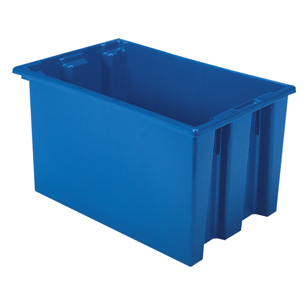 Nest & Stack Tote 23-1/2 x 15-1/2 x 12, Blue (35240BLUE).  This item sold in carton quantities of 3.