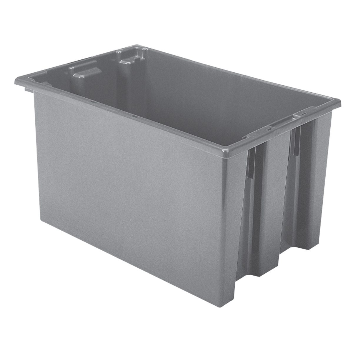 Nest & Stack Tote 23-1/2 x 15-1/2 x 12, Gray (35240GREY).  This item sold in carton quantities of 3.