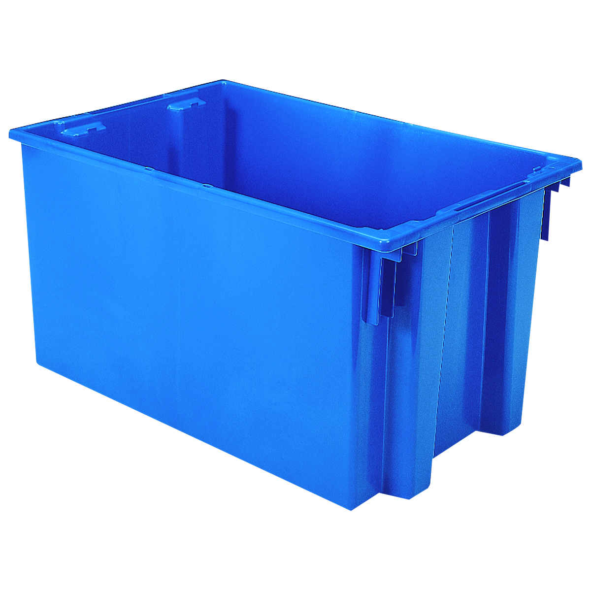 Nest & Stack Tote 29-1/2 x 19-1/2 x 15, Blue (35300BLUE).  This item sold in carton quantities of 3.