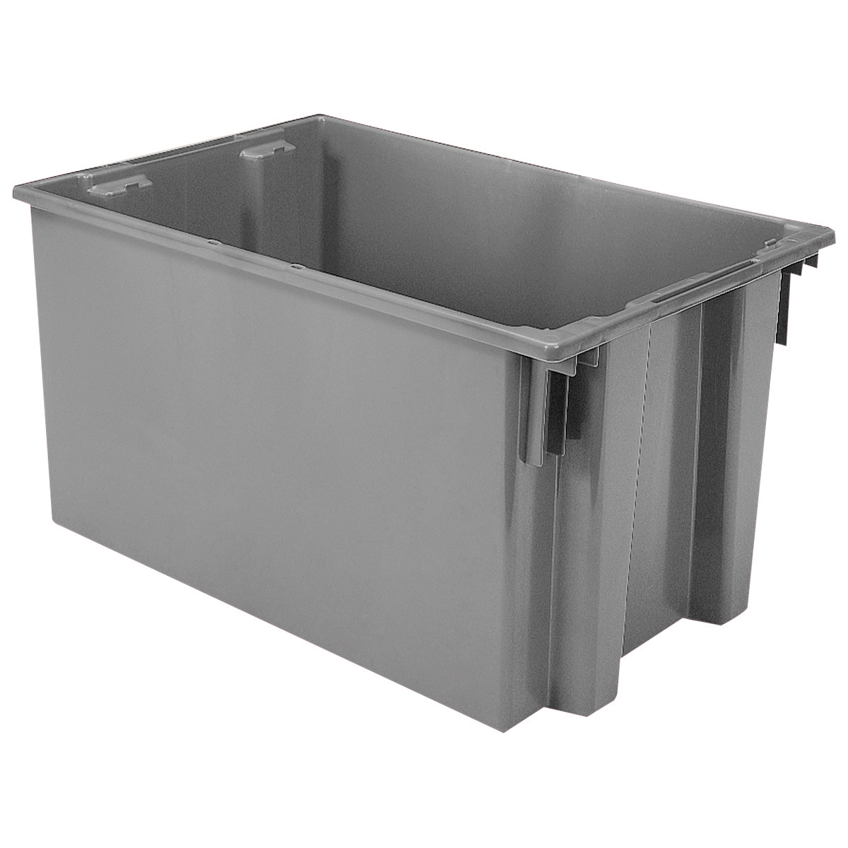 Nest & Stack Tote 29-1/2 x 19-1/2 x 15, Gray (35300GREY).  This item sold in carton quantities of 3.