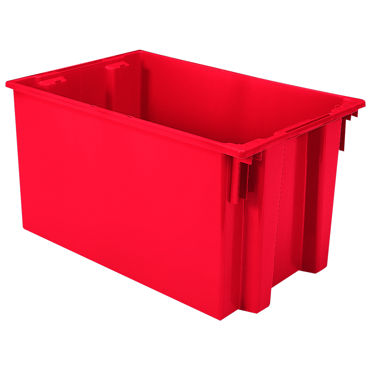 Nest & Stack Tote 29-1/2 x 19-1/2 x 15, Red (35300RED).  This item sold in carton quantities of 3.