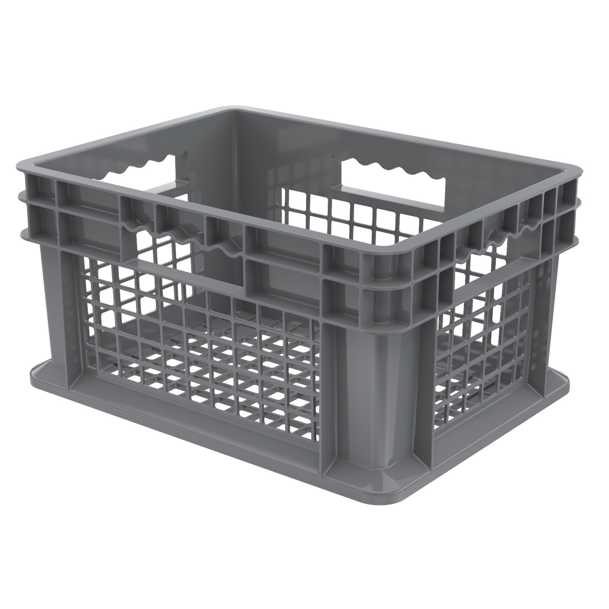 Straight Wall Container, Mesh 15-3/4 x 11-3/4 x 8-1/4, Gray (37208GREY).  This item sold in carton quantities of 12.