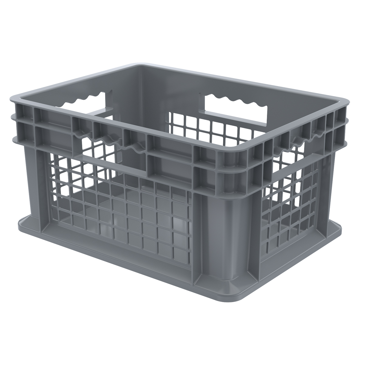 Straight Wall Container, Mesh/Solid 15-3/4 x 11-3/4 x 8-1/4, Gray (37278GREY).  This item sold in carton quantities of 12.