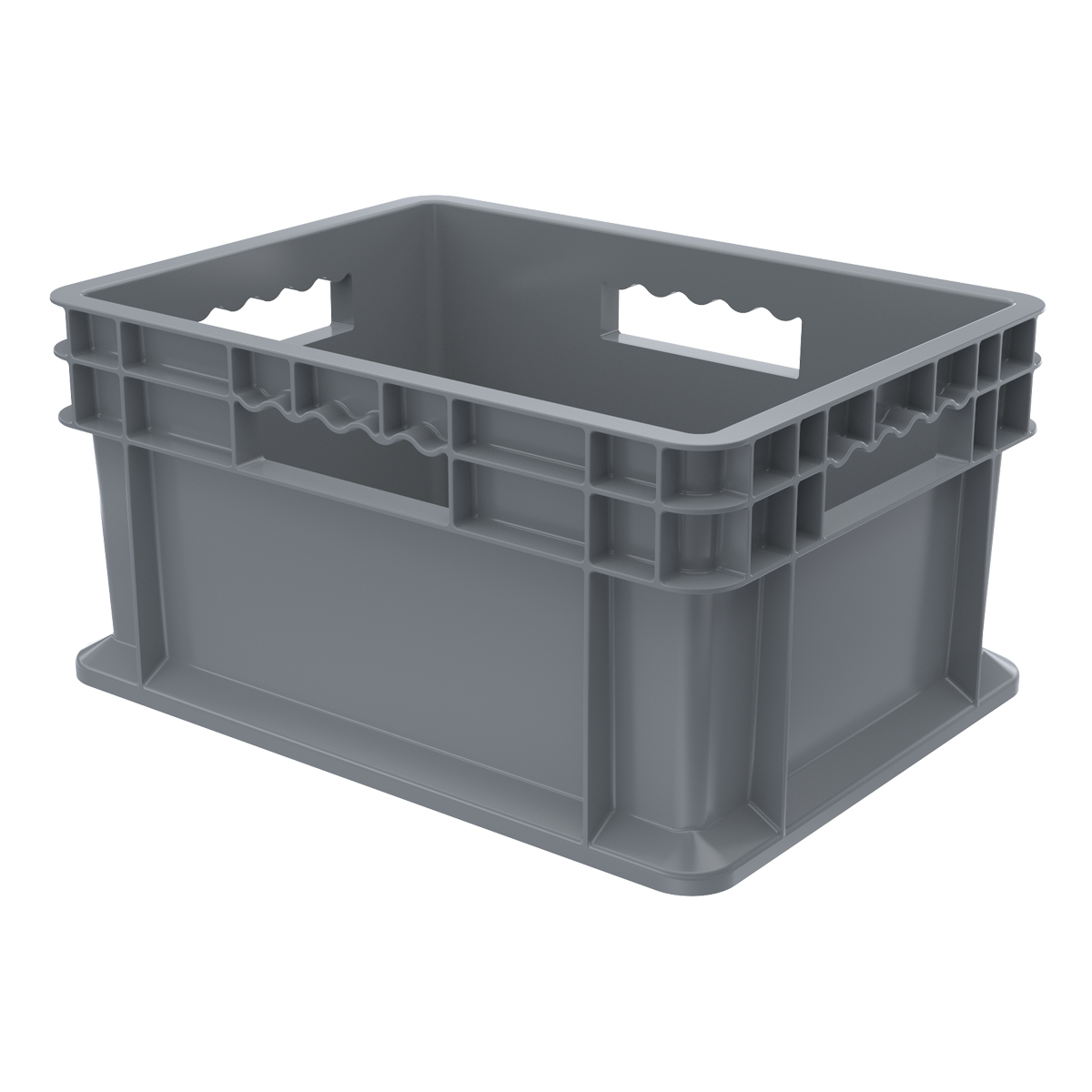 Straight Wall Container, Solid 15-3/4 x 11-3/4 x 8-1/4, Gray (37288GREY).  This item sold in carton quantities of 12.