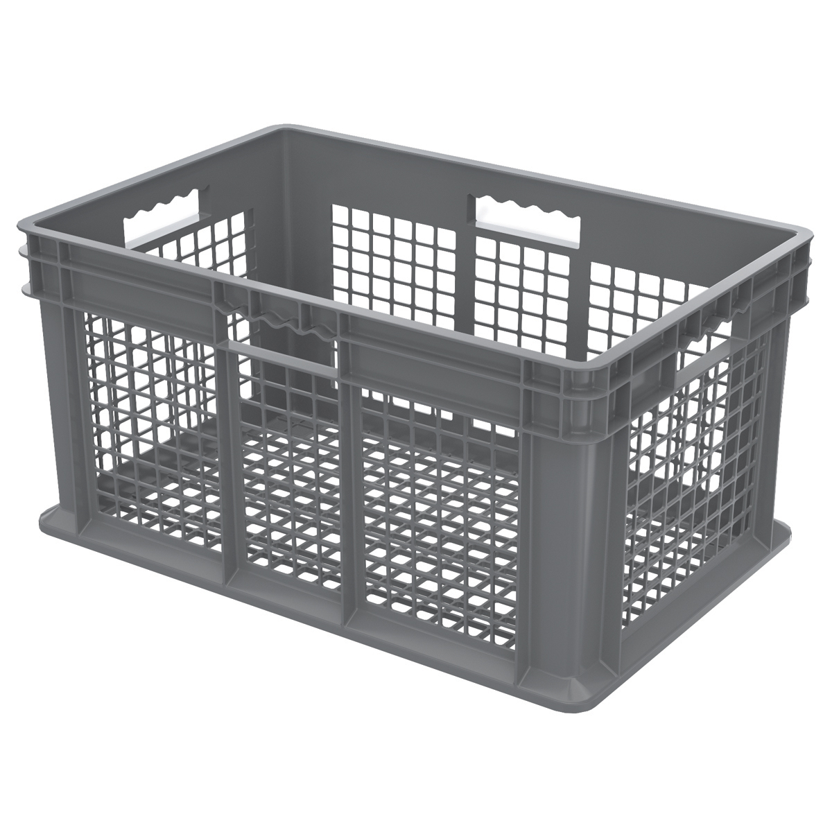 Straight Wall Container, Mesh 23-3/4 x 15-3/4 x 12-1/4, Gray (37612GREY).  This item sold in carton quantities of 3.