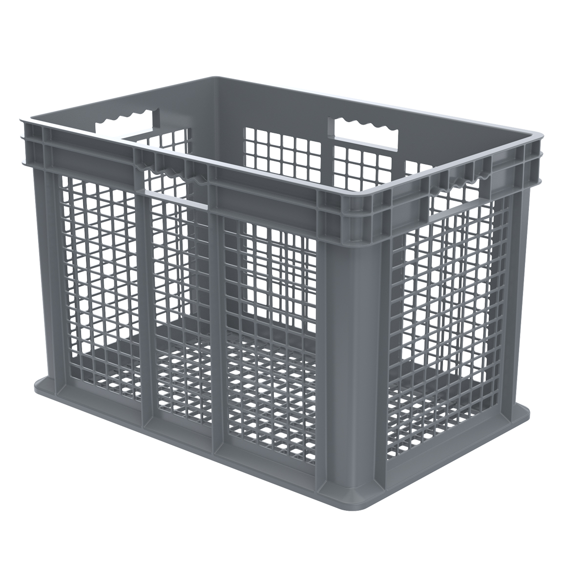 Straight Wall Container, Mesh 23-3/4 x 15-3/4 x 16-1/8, Gray (37616GREY).  This item sold in carton quantities of 2.