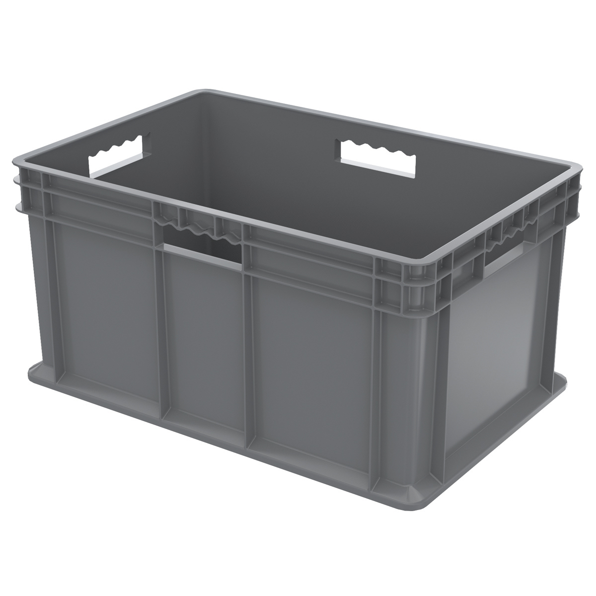Straight Wall Container, Solid 23-3/4 x 15-3/4 x 12-1/4, Gray (37682GREY).  This item sold in carton quantities of 3.