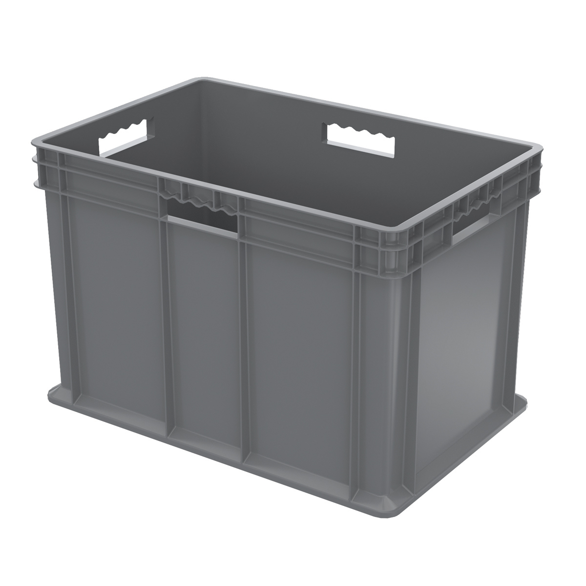 Straight Wall Container, Solid 23-3/4 x 15-3/4 x 16-1/8, Gray (37686GREY).  This item sold in carton quantities of 2.