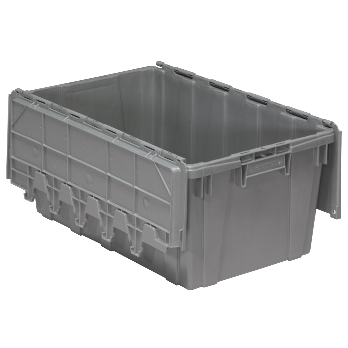 Attached Lid Container 17 gal, 27 x 17 x 12-1/2, Gray (39160).  This item sold in carton quantities of 1.