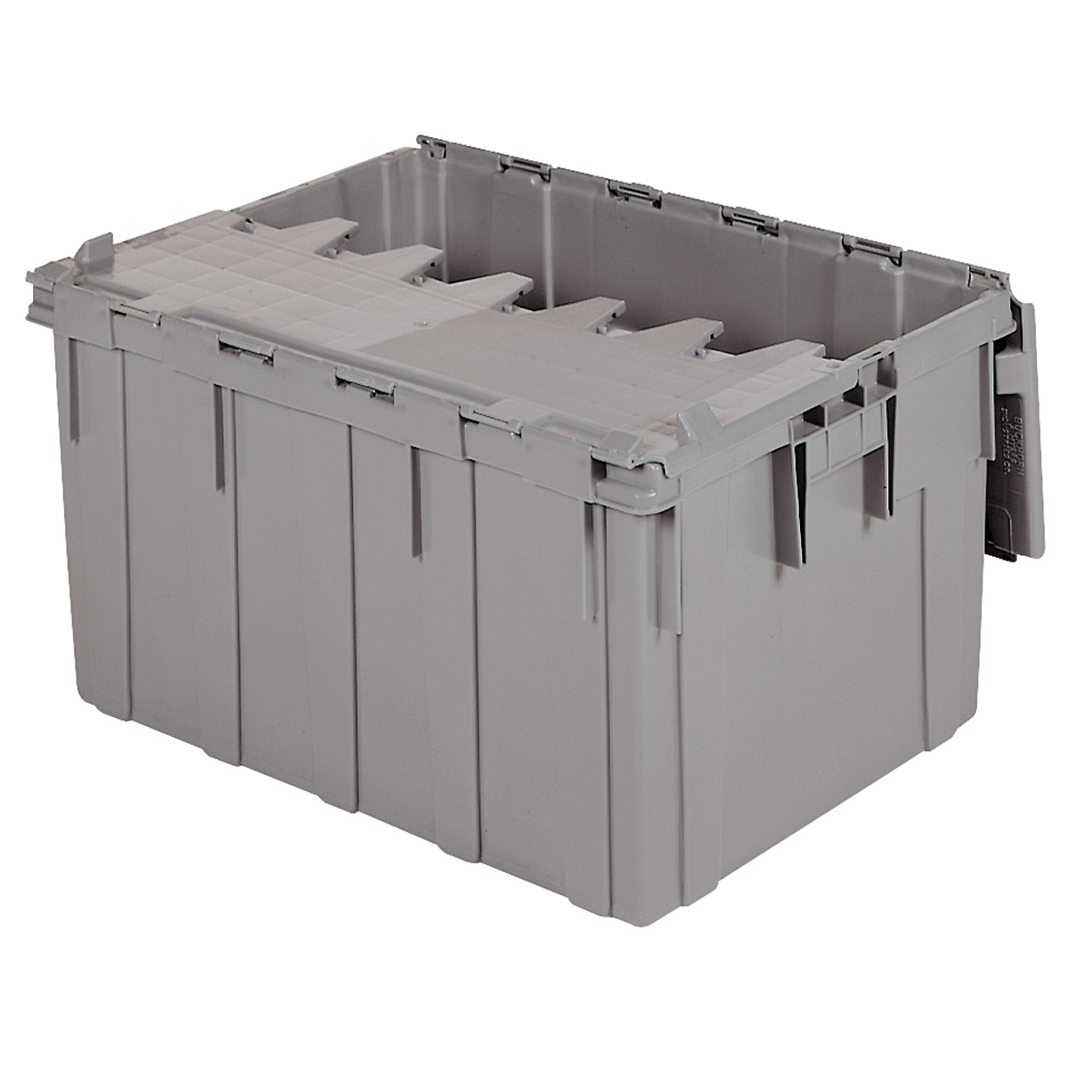 Attached Lid Container 28 gal, 28 x 21 x 15-1/2, Gray (39280).  This item sold in carton quantities of 1.