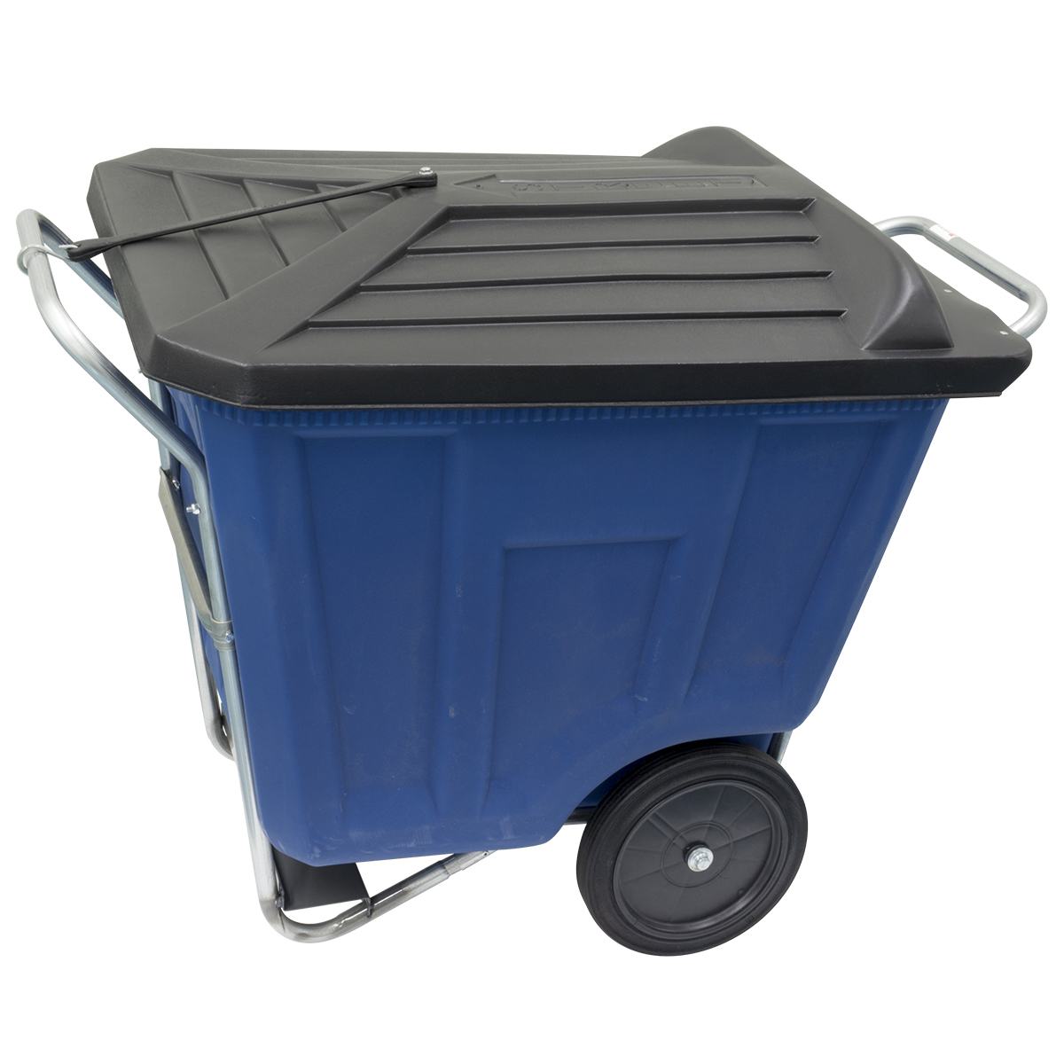 Akro-Cart w/ Lid 90 Gal, 30-1/2 x 47 x 39-1/2, Blue (76491BLUE).  This item sold in carton quantities of 1.