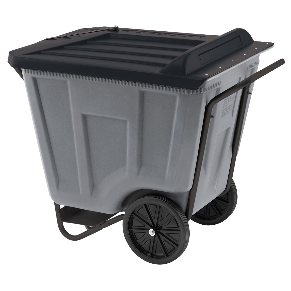 Akro-Cart w/ Lid 90 Gal, 30-1/2 x 47 x 39-1/2, Gray (76491GREY).  This item sold in carton quantities of 1.
