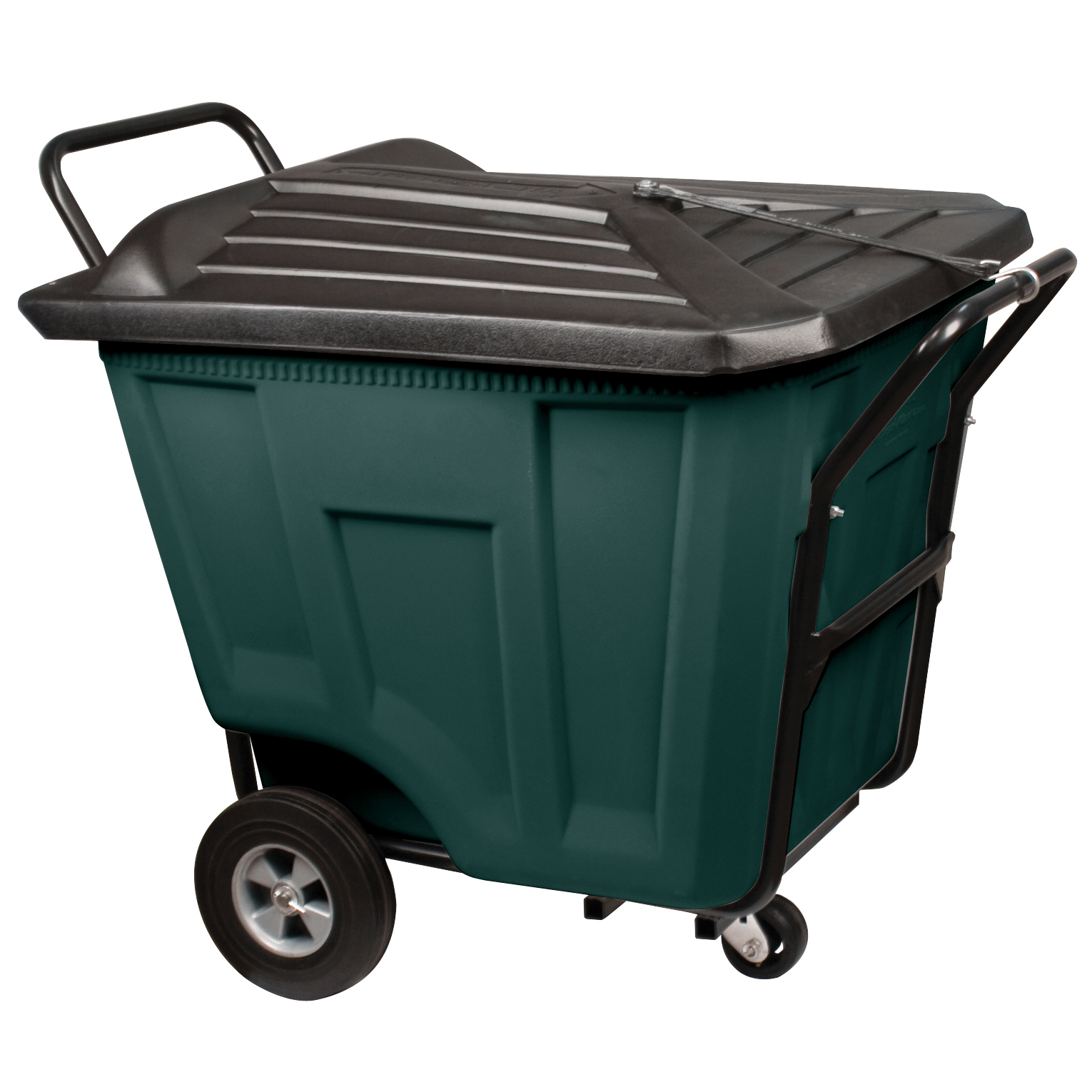 Akro-Cart w/ Lid Heavy-Duty 90 Gal, 30-1/2 x 47 x 39-1/2, Green (76591GREEN).  This item sold in carton quantities of 1.