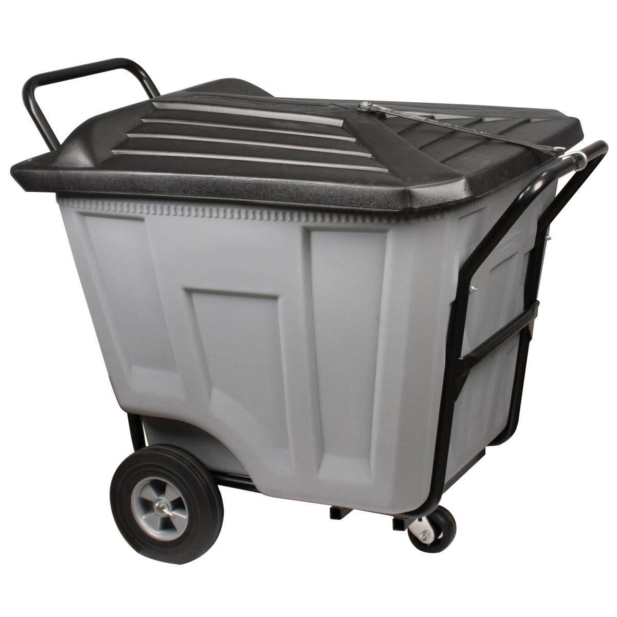 Akro-Cart w/ Lid Heavy-Duty 90 Gal, 30-1/2 x 47 x 39-1/2, Gray (76591GREY).  This item sold in carton quantities of 1.