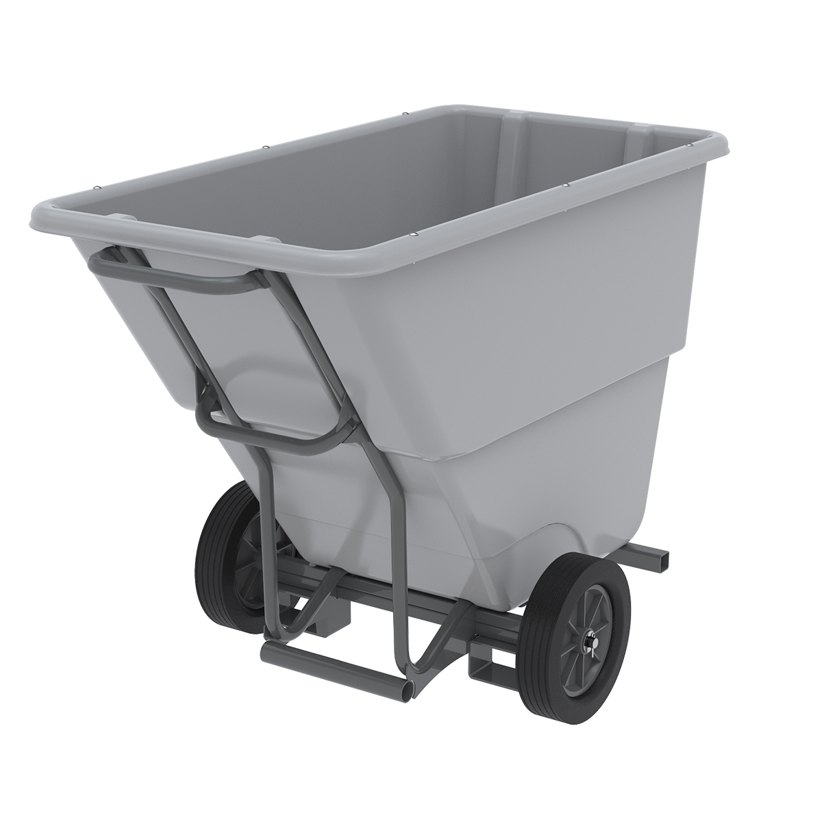 Akro-Tilt Truck w/ Fork Channels Medium-Duty 100 Gal, 27 x 54 x 36, Gray (77405FGREY).  This item sold in carton quantities of 1.