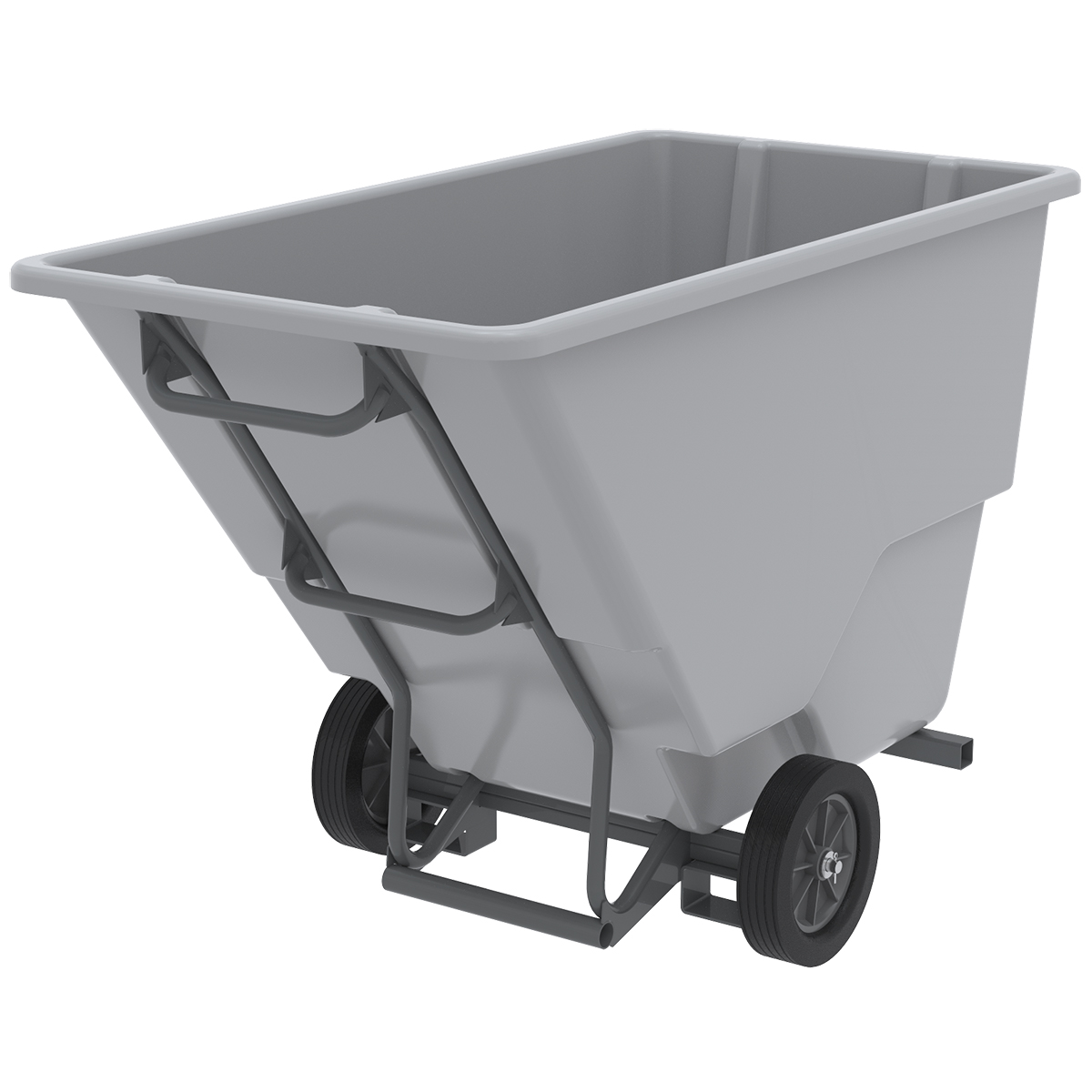 Akro-Tilt Truck w/ Fork Channels Medium-Duty 200 Gal, 33 x 66 x 42, Gray (77410FGREY).  This item sold in carton quantities of 1.
