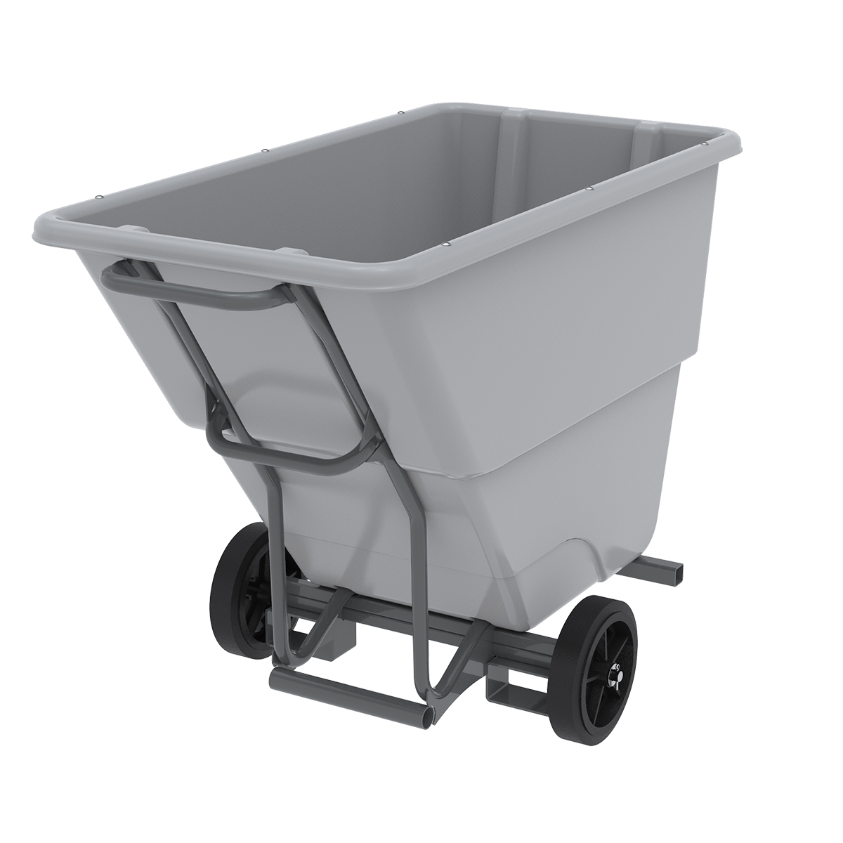 Akro-Tilt Truck w/ Fork Channels Heavy-Duty 100 Gal, 27 x 54 x 36, Gray (77505FGREY).  This item sold in carton quantities of 1.