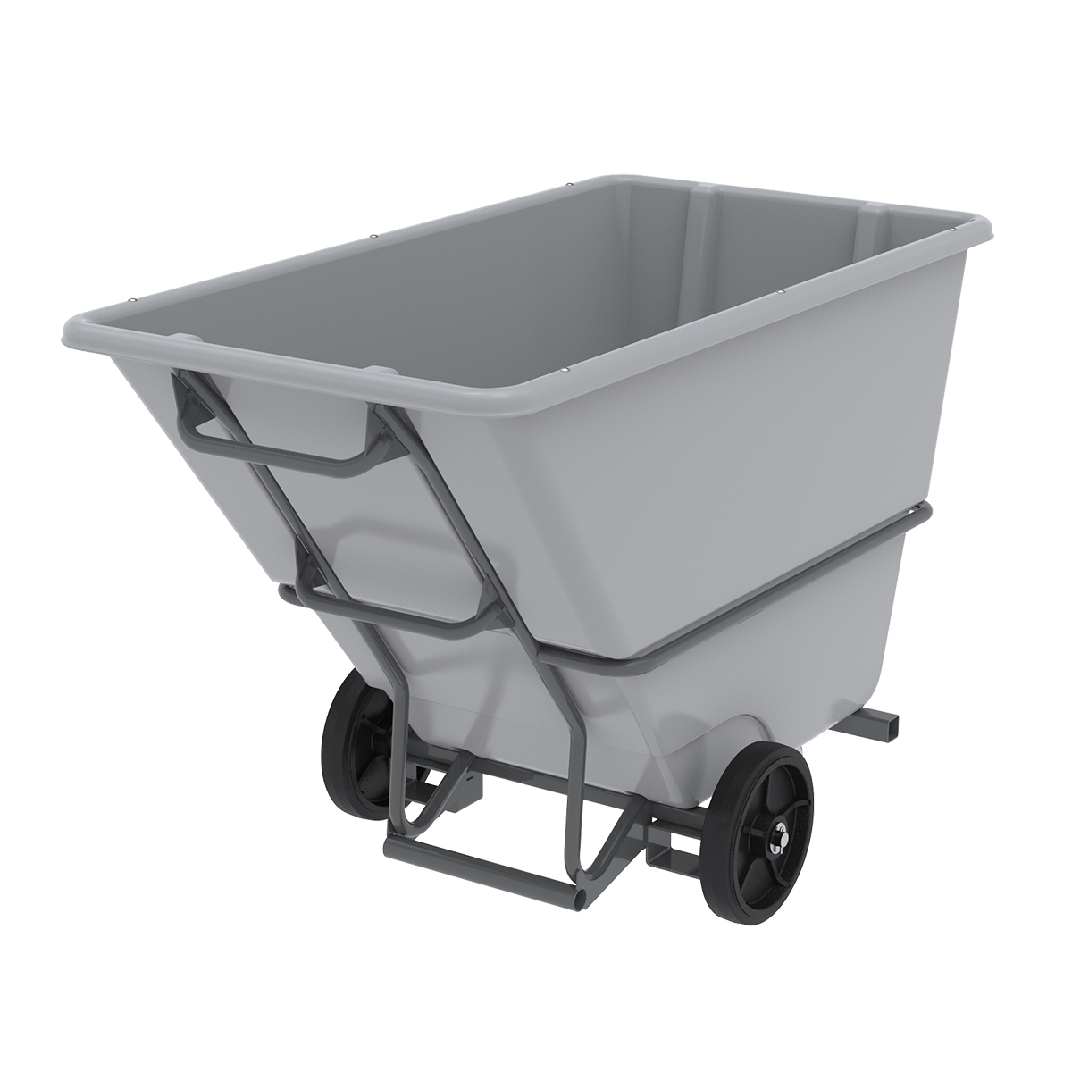 Akro-Tilt Truck w/ Fork Channels Super Heavy-Duty 200 Gal, 33 x 66 x 42, Gray (77610FGREY).  This item sold in carton quantities of 1.