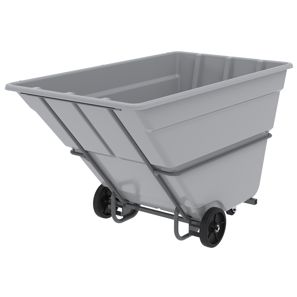 Akro-Tilt Truck w/ Fork Channels Heavy-Duty 400 Gal, 48 x 85 x 51, Gray (77810FGREY).  This item sold in carton quantities of 1.