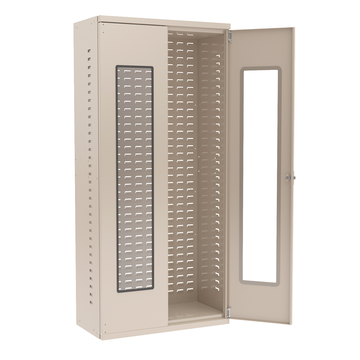Quick View Bin Cabinet, 36x18x78, No Bins, Beige (AC3618QV).  This item sold in carton quantities of 1.