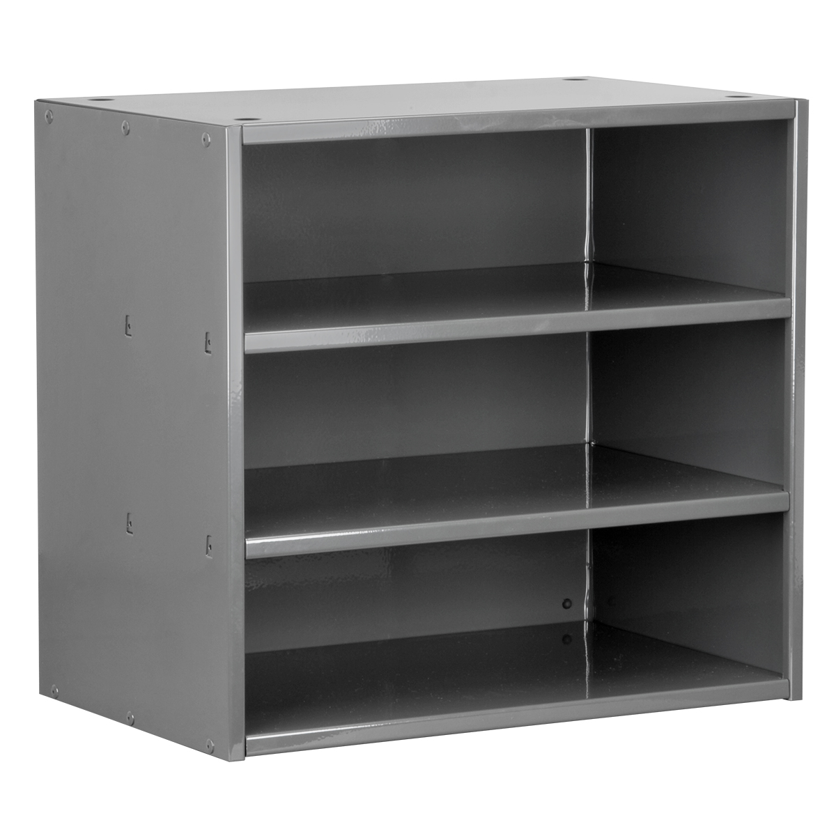 Item DISCONTINUED by Manufacturer.  Modular Cabinet, 18x11x16, no Drawers, Gray (AD1811C).  This item sold in carton quantities of 1.