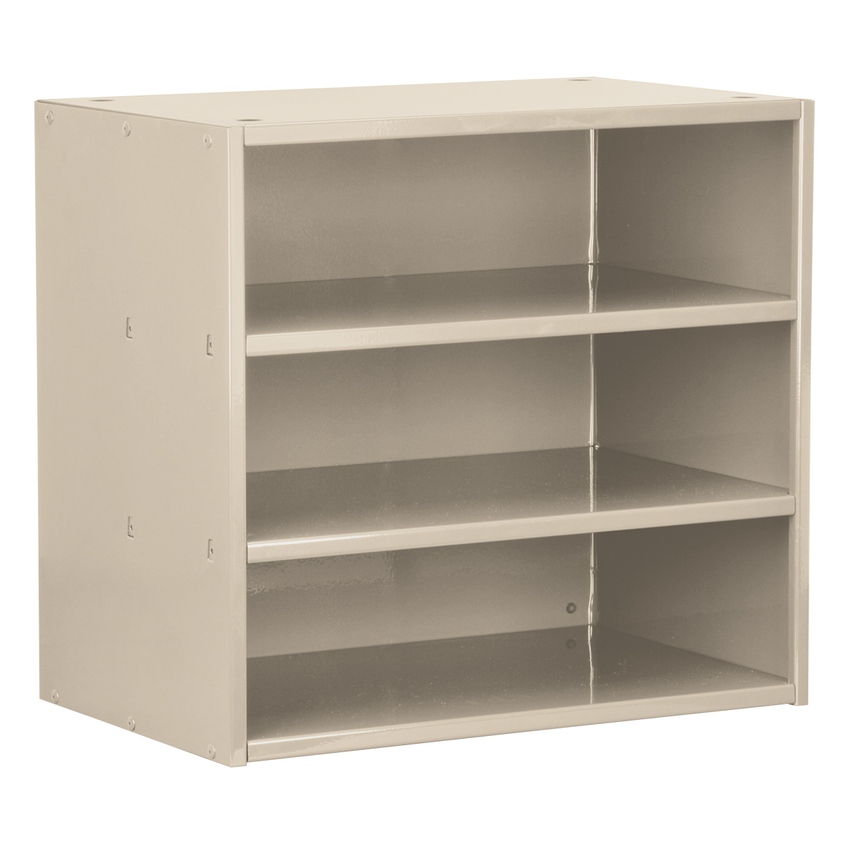 Item DISCONTINUED by Manufacturer.  Modular Cabinet, 18x11x16, no Drawers, Putty (AD1811P).  This item sold in carton quantities of 1.