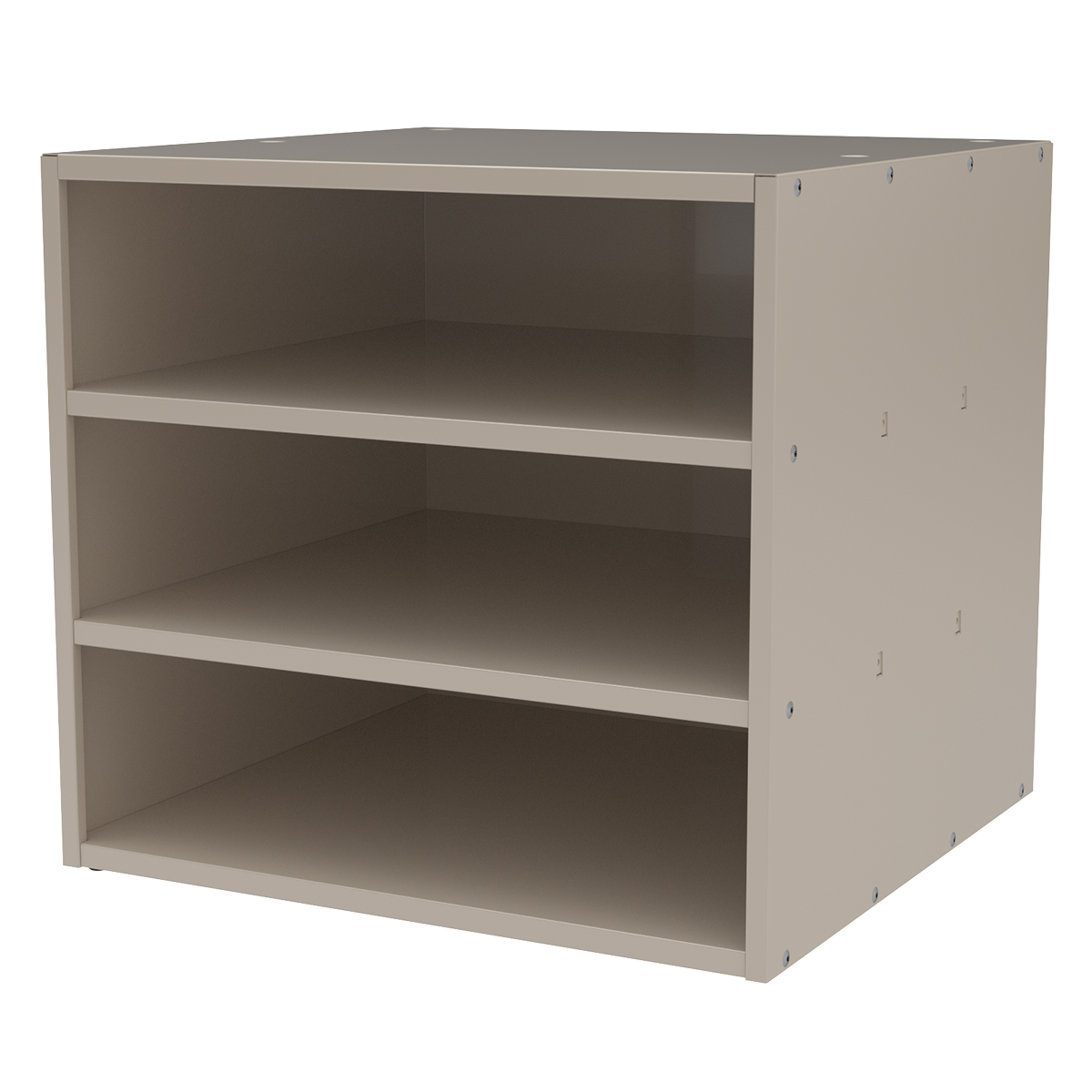Item DISCONTINUED by Manufacturer.  Modular Cabinet, 18x17x16, no Drawers, Putty (AD1817P).  This item sold in carton quantities of 1.