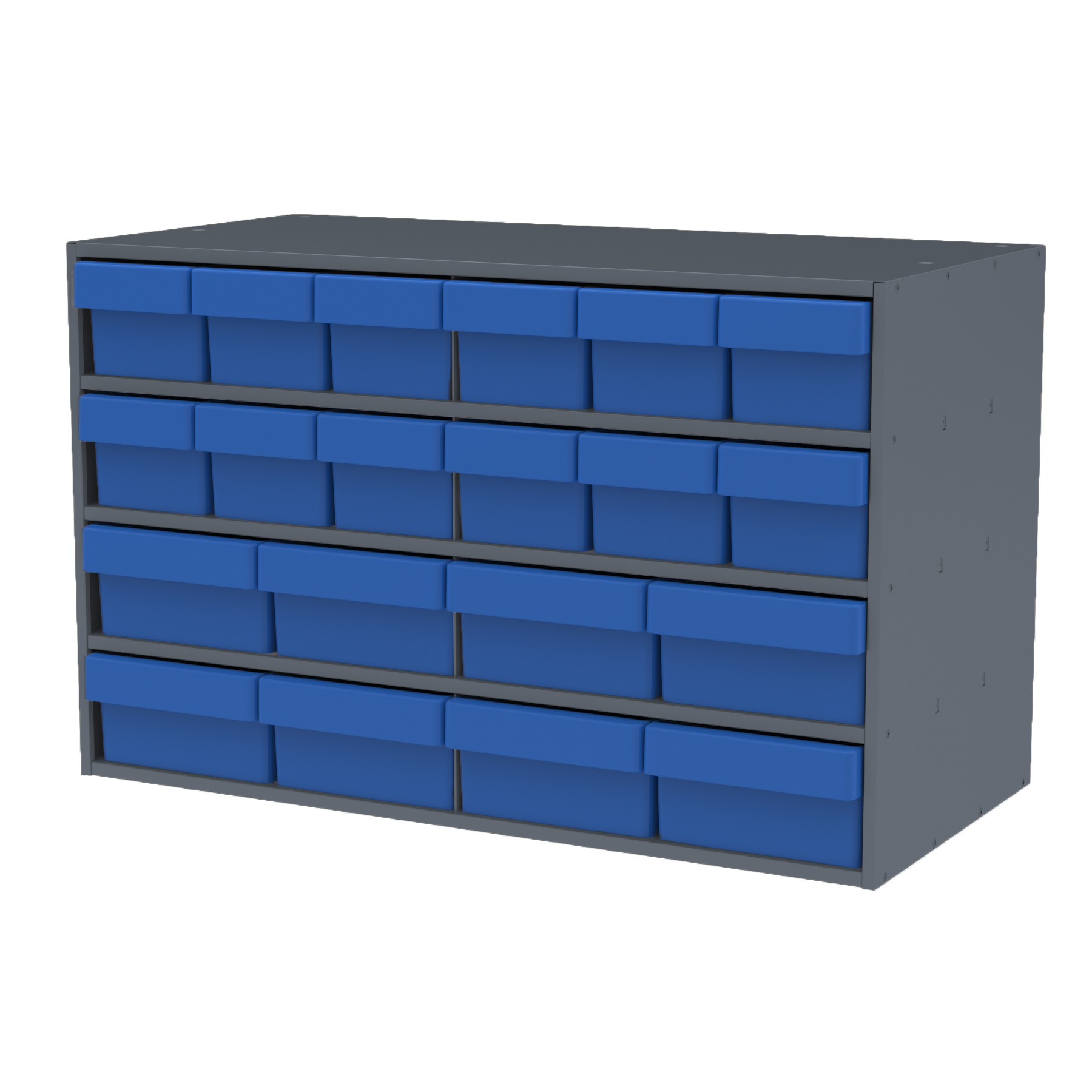 Item DISCONTINUED by Manufacturer.  Stackable Cabinet, 35x17x22, 16 Asst. Drawers, Gray/Blue (AD3517CASTBLU).  This item sold in carton quantities of 1.