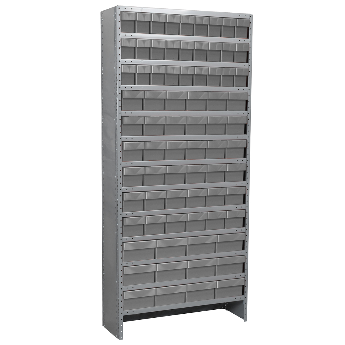 Enclosed Steel Shelving Kit, 12x36x79, 78 AkroDrawers, Gray/Gray.  This item sold in carton quantities of 1.