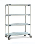 MetroMax I Solid & Grid Shelf Mobile Units