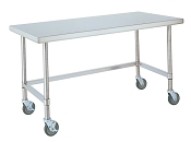 HD Mobile Stainless Work Tables