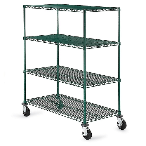 Olympic Green Epoxy Finish Stationary & Mobile 4 Tier