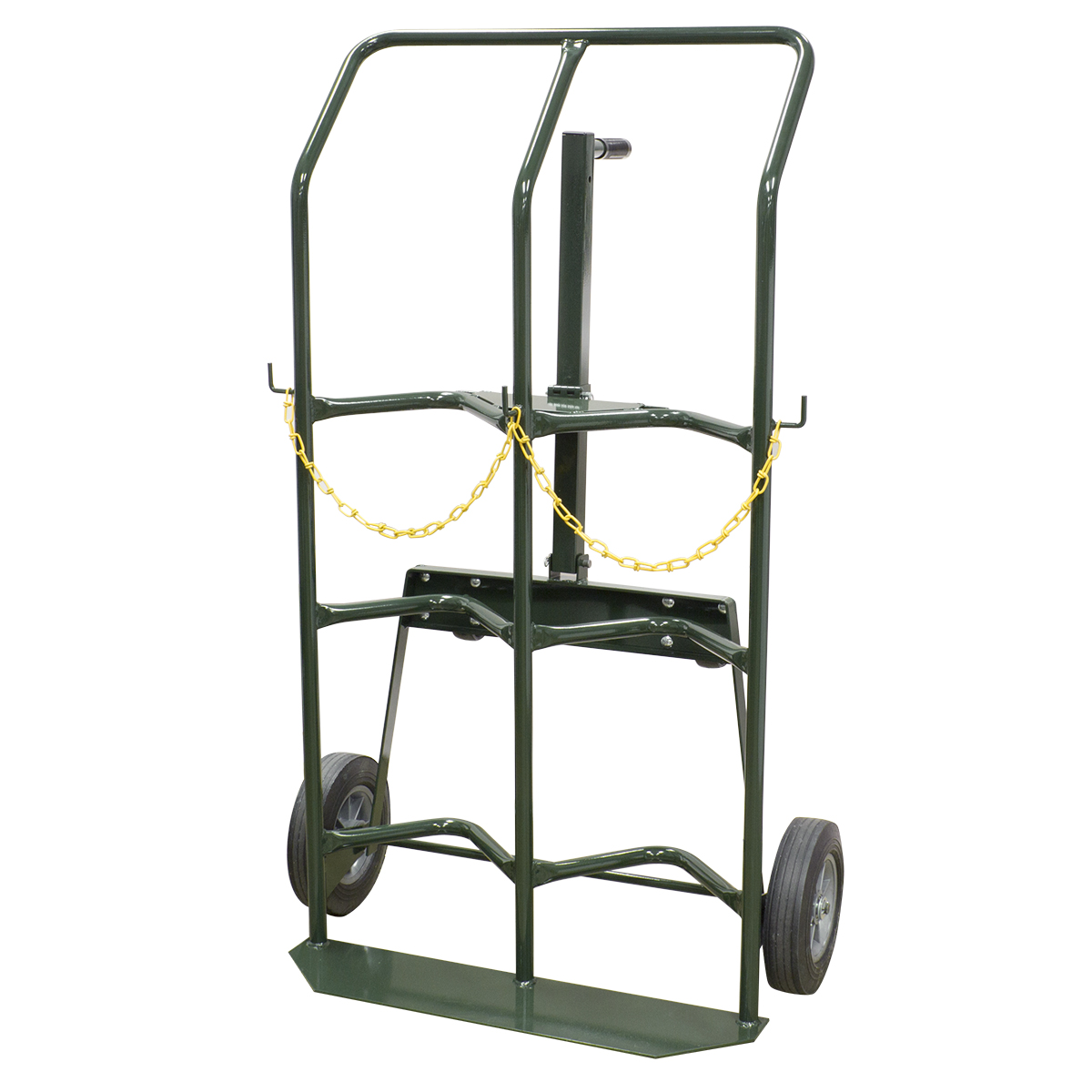 Hand Truck, Dual Cylinder Gas, Semi-Pneumatic, Green (RGTD10SP).  This item sold in carton quantities of 1.