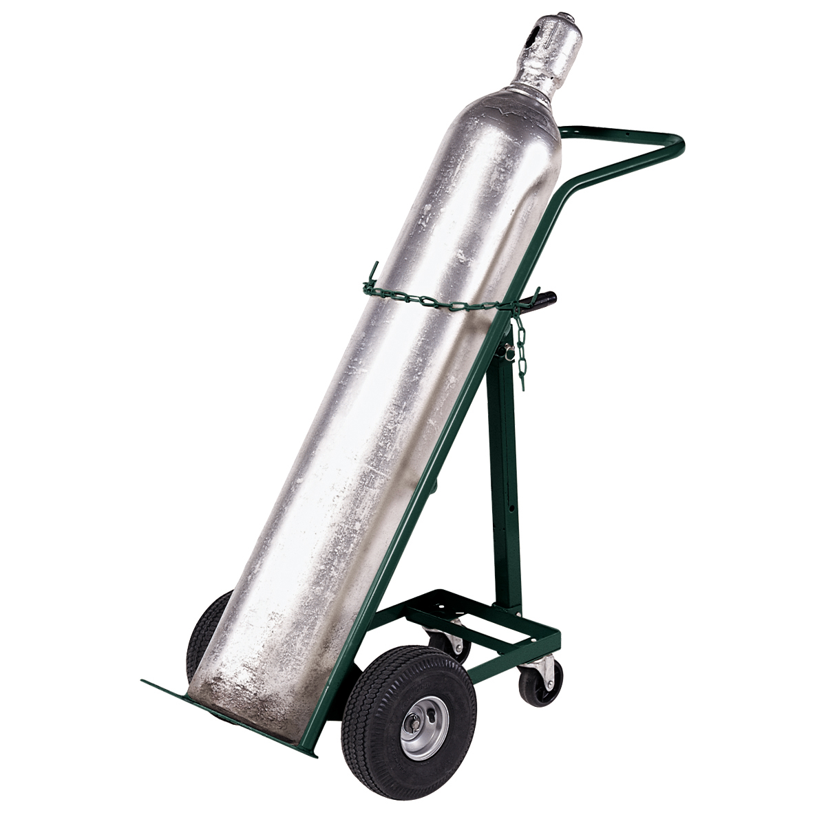 Hand Truck, Single Cylinder Gas, Full Pneumatic, Green (RGTS10FP).  This item sold in carton quantities of 1.