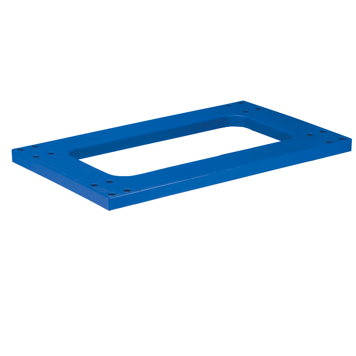 Item DISCONTINUED by Manufacturer.  Flush Polyethylene, Without Casters 30x18, Blue.  This item sold in carton quantities of 1.