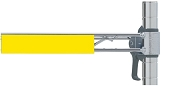 Metro®  CSM6-Y  - Yellow Color Shelf Marker 6x1.25