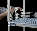 Metro® MQLS18-2S - MetroMax Q® 2IN stackable stainless shelf ledge