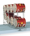 Metro® CR24E - Can Rack, holds eight #10 cans or twelve #5 cans, corrosion-resistant gray epoxy finish