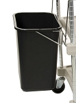 Metro® MYWB2 - MYCART WASTE BASKET + HOLDER -