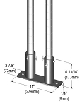 Metro® SAQHD25BP-2 - Seismic Bolt Plate Kit for (2) posts, 2-7/8