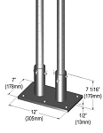 Metro® SAQHD50BP-2 - Seismic Bolt Plate Kit for (2) posts, 7